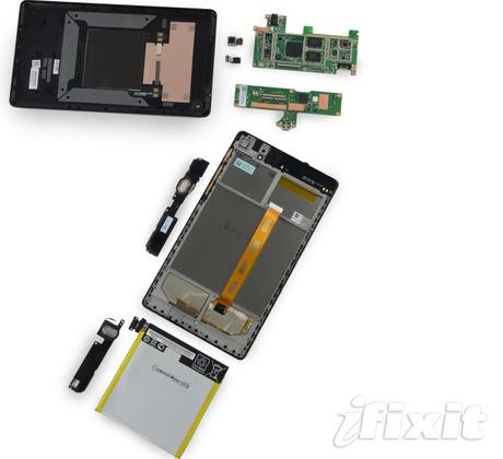 Nexus 7 2013 iFixit teardown reveals easy repairability