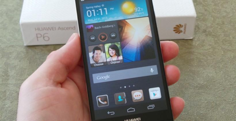 Huawei Ascend P6 Unboxing and Hands-on