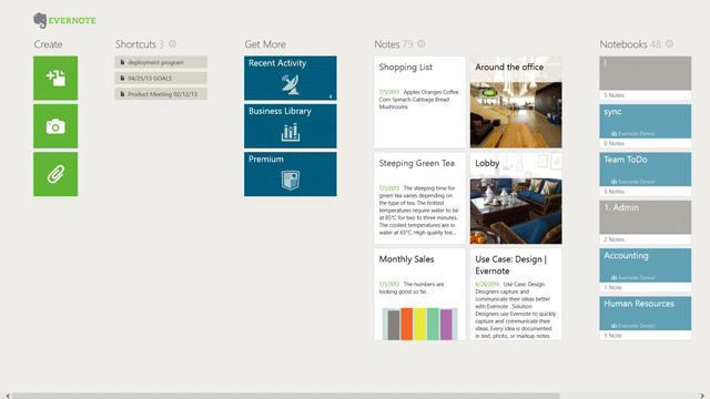 Evernote for Windows Touch scores several new features, Business support
