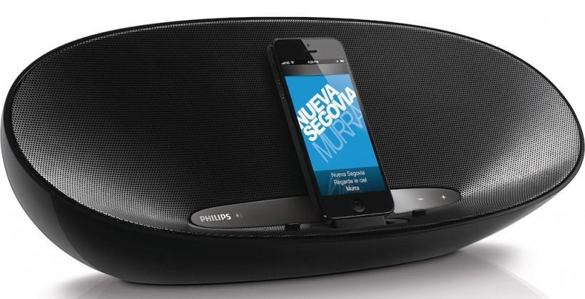 Philips DS8400 iPhone speaker-dock packs Bluetooth, Lightning & a battery