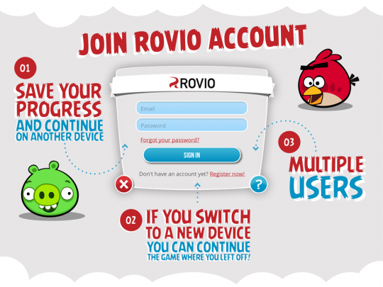 Rovio Account rolls out globally for cross-platform syncing