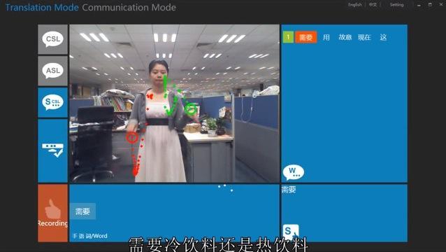 Microsoft Kinect used to read sign language