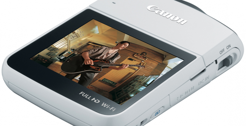 Canon VIXIA mini camcorder optimized for self-shooting