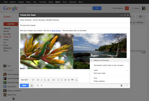 Gmail gets full-screen compose option by popular demand