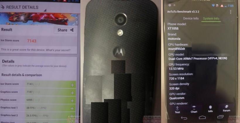 Moto X benchmarks leak specifications in black
