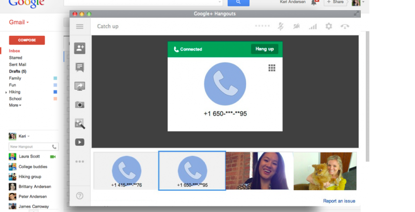 Google Hangouts gets desktop voice calls (with North America