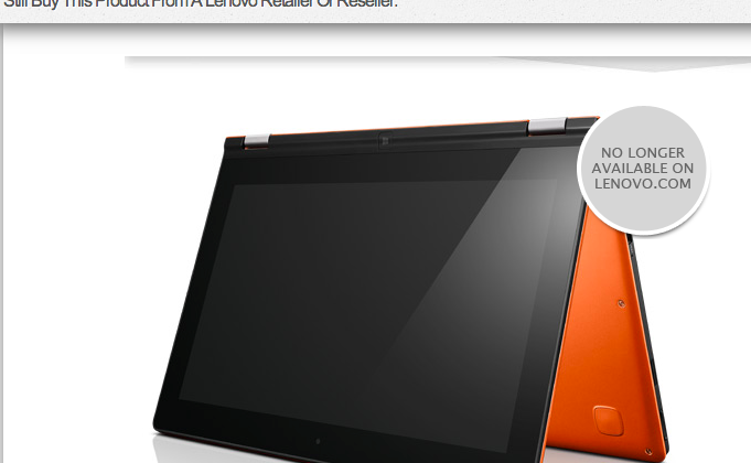 Lenovo Yoga 11 Windows RT seemingly axed as official store stops sales