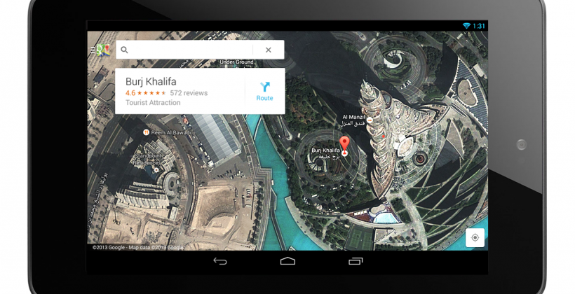 New Google Maps official: Dedicated tablet UI, traffic details, more