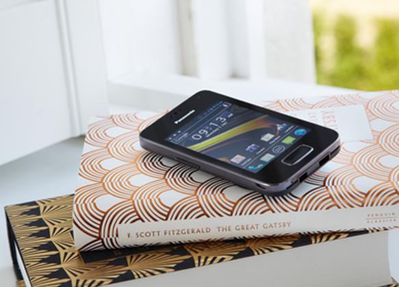 Panasonic KX-PRX120 cordless home phone runs Android Ice Cream Sandwich