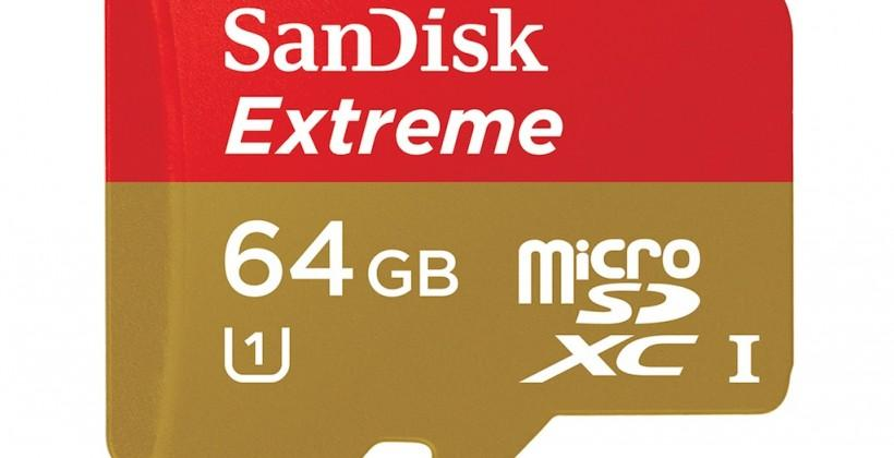 SanDisk Extreme microSDXC is eager for Ultra HD phones