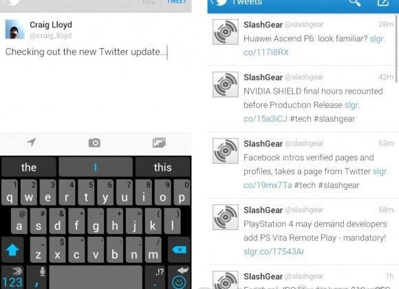 Twitter updates with direct message syncing