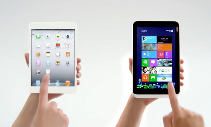 Microsoft pits Acer Iconia W3 against iPad mini in latest Windows fight