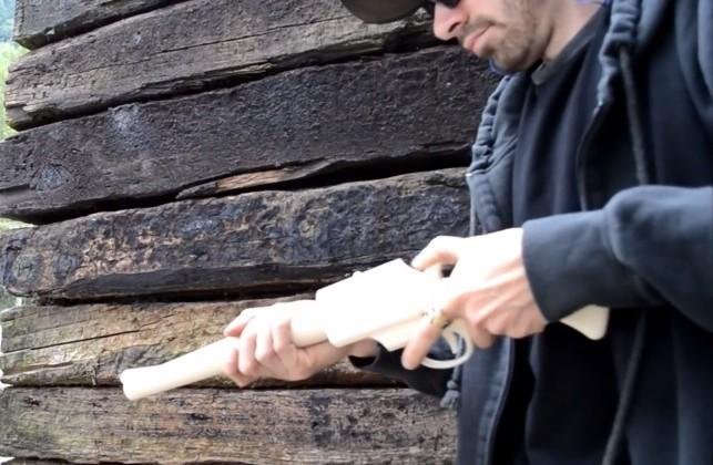 3D-printed rifle fires 14 shots before breaking