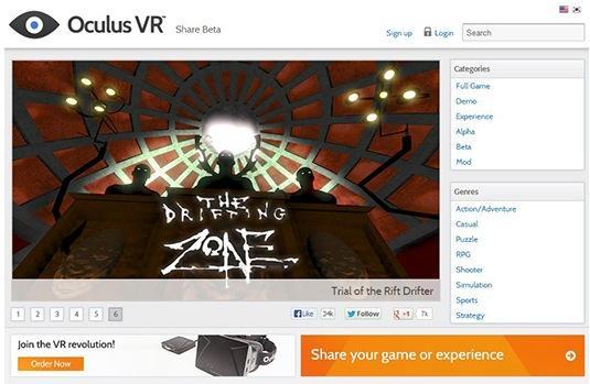 "Oculus Rift ""Share"" platform arrives as central hub for games and demos"