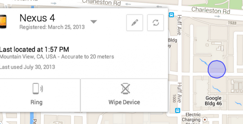 Android Device Manager locates your lost smartphone remotely [UPDATE]
