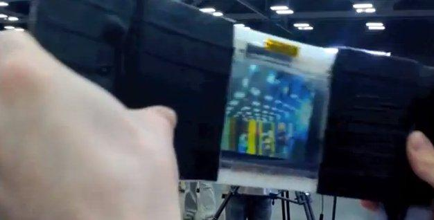Flexible OLED viewfinder and camera array combine for panoramic FlexCam