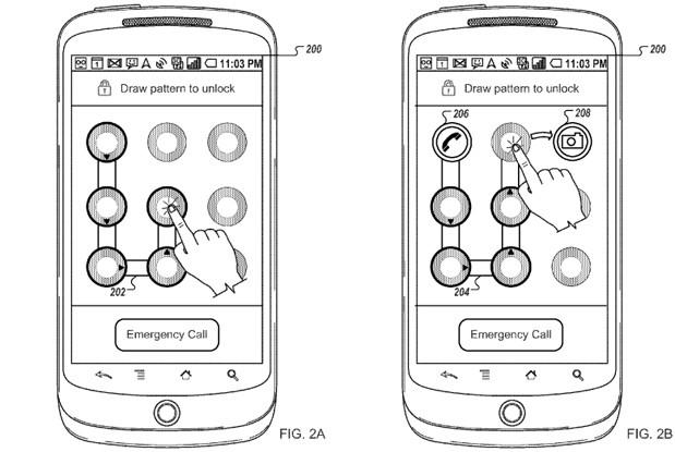 Android pattern lock patent aims for quick launch of frequently-used apps