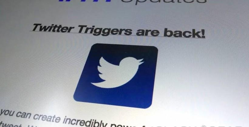 IFTTT Twitter Triggers return: turn your lamp colors with a Tweet