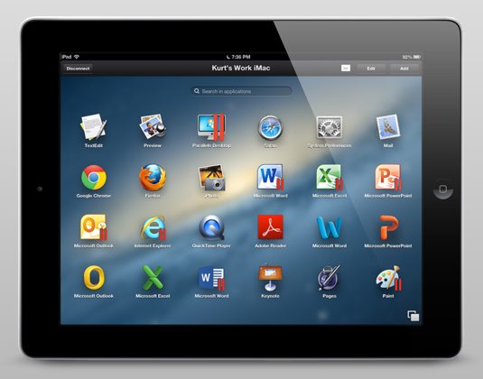 Parallels Access for iPad offers remote access to Mac and Windows applications