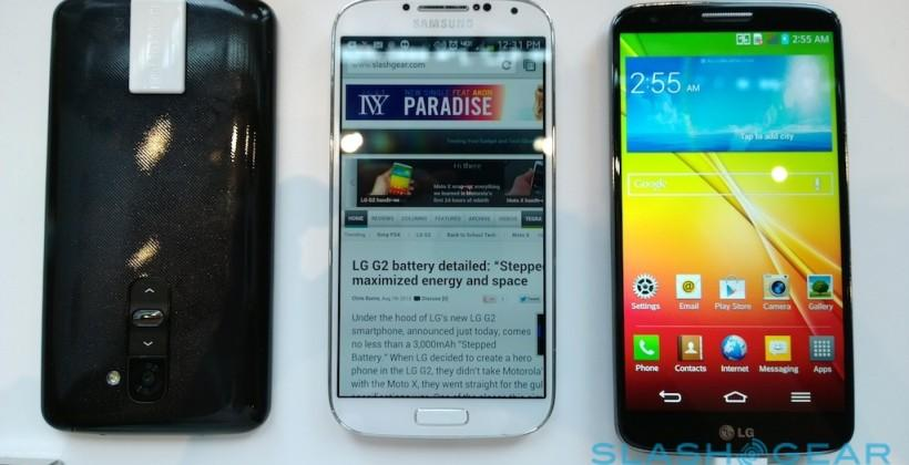 LG G2 vs Galaxy S 4 vs Moto X: hero phone war - SlashGear
