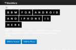 BBM for iPhone and Android semi-functional launch page goes live