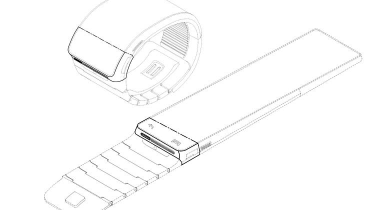 "Samsung smartwatch designs potentially for flexible ""Gear"" wearable"