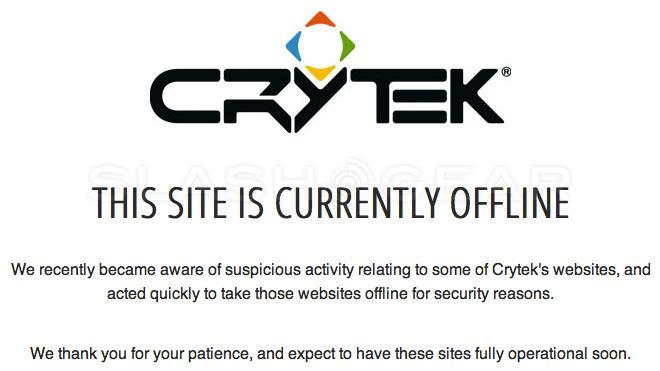 Crysis creators Crytek homepages hacked, users asked to change logins