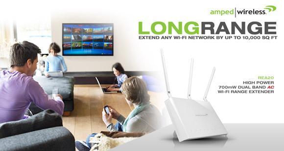Amped Wireless REA20 Wi-Fi Range Extender set to hit market