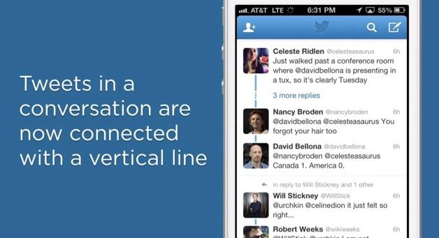 Twitter brings a conversation focused update to the iPhone, Android and web