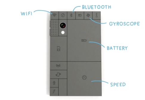 Phonebloks modular phone concept isolates components in swappable blocks