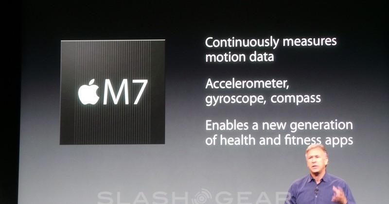 "Apple M7 Motion coprocessor to ""continuously"" measure data"