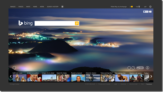 Microsoft Bing search gets a new look and features