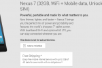 Nexus 7 with LTE no longer available through Google Play