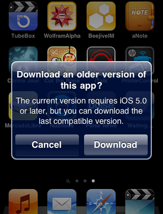 Old versions of iOS can now download compatible apps - SlashGear