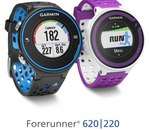 Garmin Forerunner 620 and 220 feature one-inch color displays
