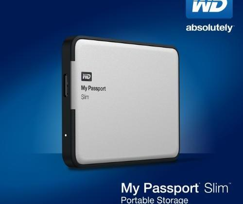 Western Digital My Passport Slim packs 2 TB of storage in a thin metal case with encryption