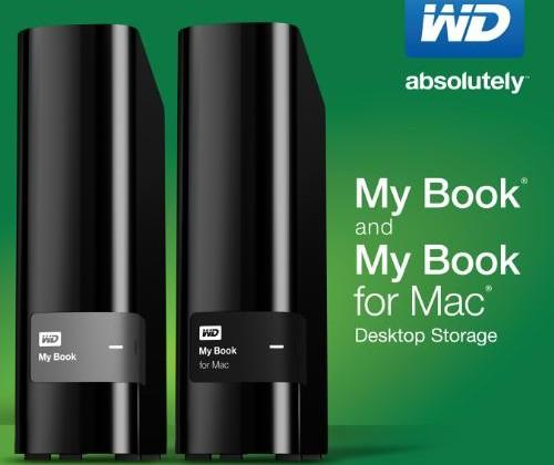 Redesigned Western Digital My Book external HDDs offer up to 4 TB