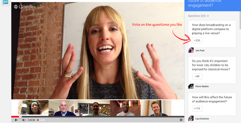 Google Hangouts On Air update adds live question and answer
