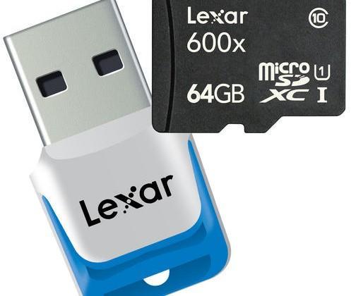 Lexar 64GB microSDXC has 600x transfer speeds