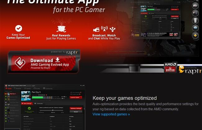 AMD Gaming Evolved app aims to make gaming PCs as easy to use as