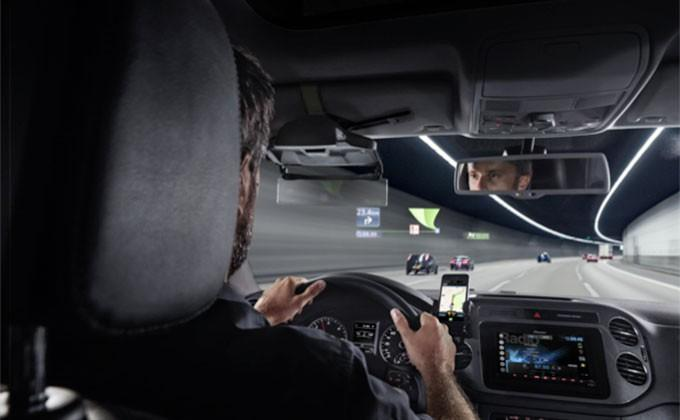 Pioneer NavGate HUD launches with on-windshield navigation projection
