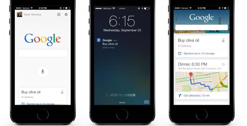 "Google iOS app ""OK Google"" voice control incoming as mobile search revamped"