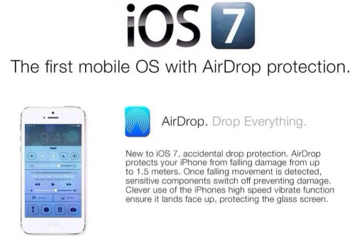 "iOS 7 Waterproof hoax expands with ""AirDrop protection"""