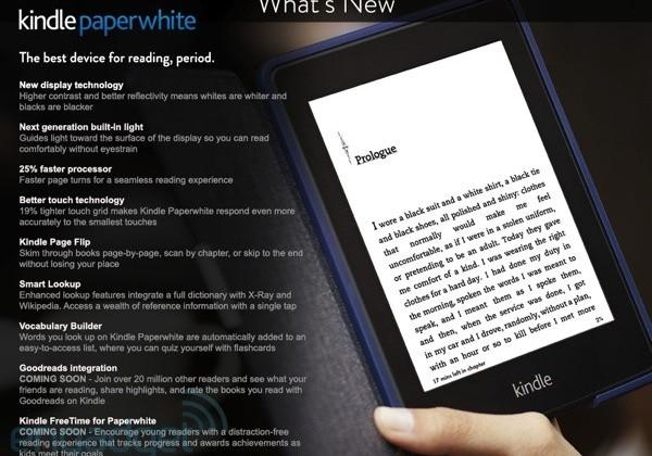 Kindle Paperwhite 2 makes brief appearance on Amazon