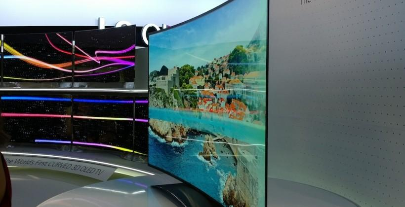 LG 77-inch Ultra HD Curved OLED eyes-on