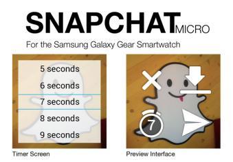 Galaxy Gear's Snapchat Micro amongst 70 smartwatch apps
