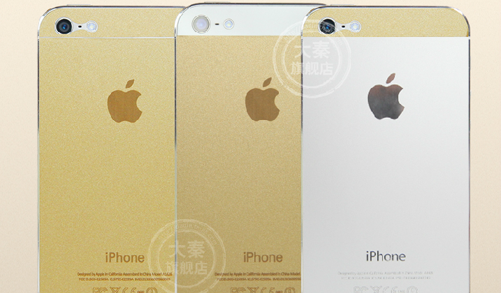 Gold iPhone 5s madness reaches fever pitch: China turns to stickers