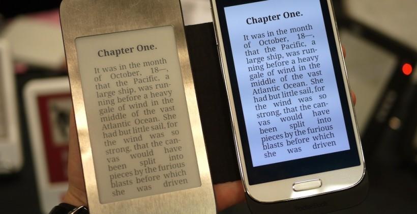 PocketBook e-paper Samsung Galaxy S 4 ereader case hands-on