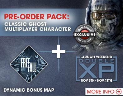 Call of Duty Ghosts pre-order bonuses unveiled at Gamestop