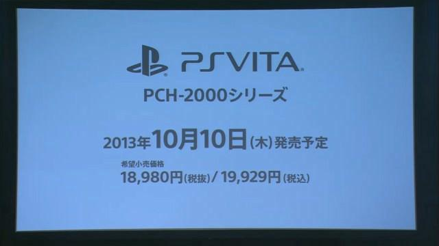 PS Vita 2000 revealed, thinner, lighter, more colorful